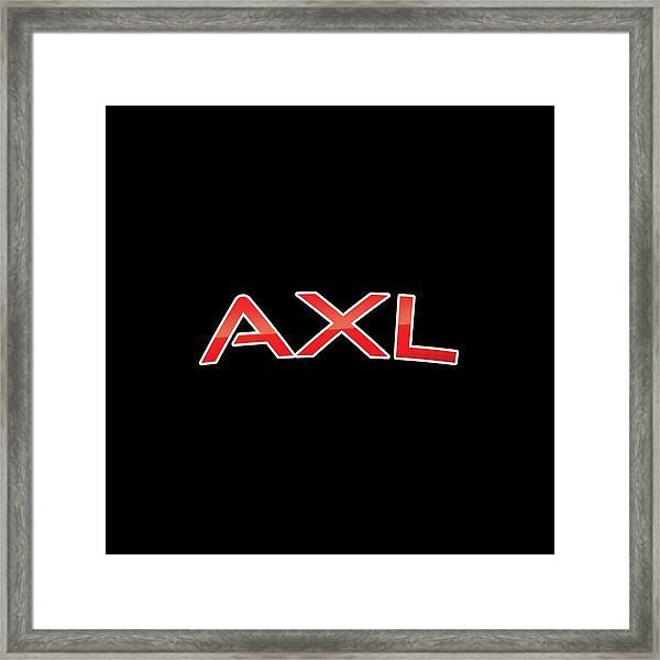 Axl Framed Print