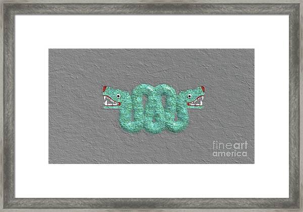 Aztec Serpent Framed Print