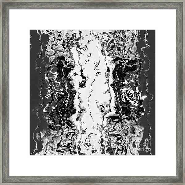 Framed Print featuring the drawing B W Iner by A zakaria Mami