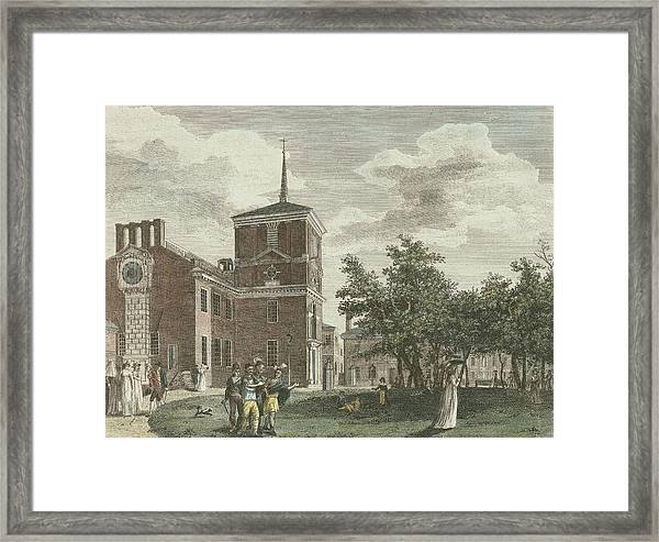 Back Of State House Framed Print
