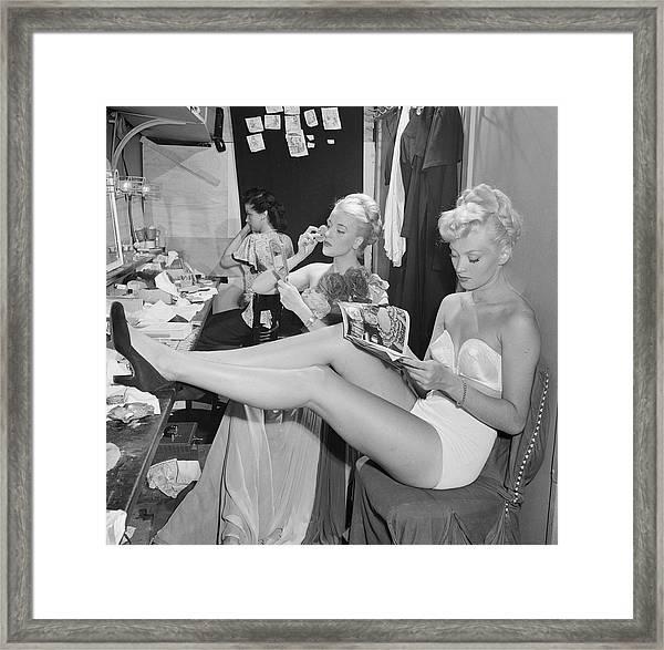 Backstage At La Scala Framed Print by Slim Aarons