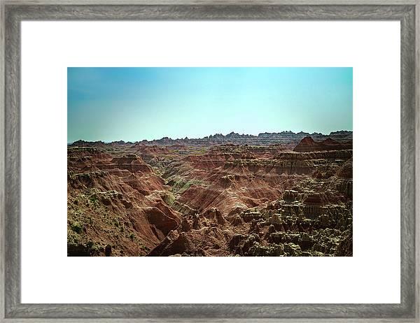 Badlands Landscape Framed Print