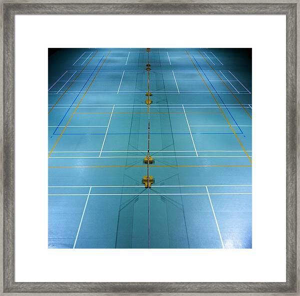 Badminton Court Framed Print