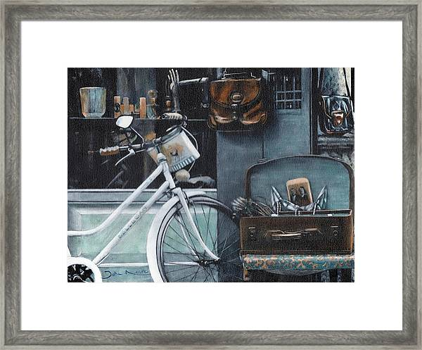 Bagging A Bargain Framed Print
