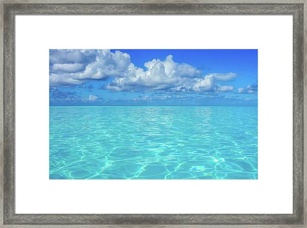 Framed Print featuring the photograph Bahama Blues, Half Moon Cay by Dawn Richards
