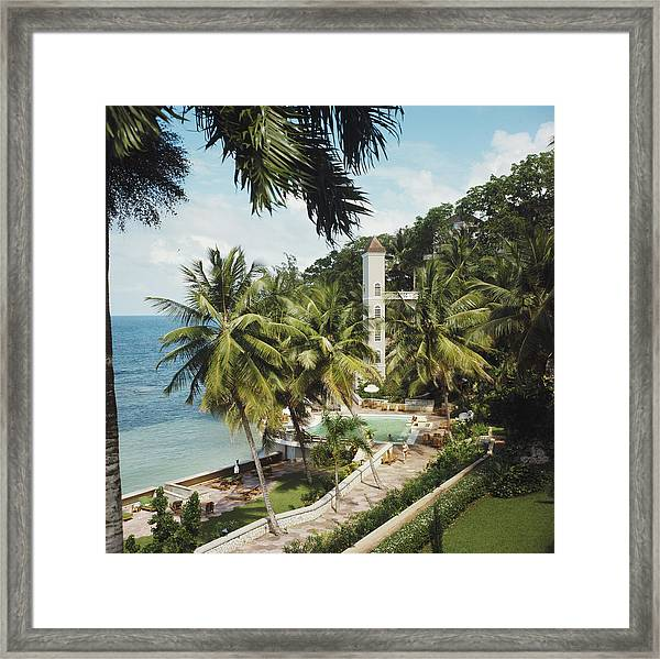 Bahamanian Hotel Framed Print