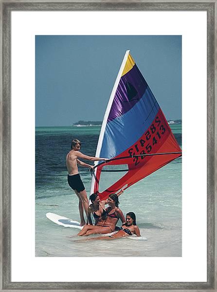 Bahamas Windsurfing Framed Print