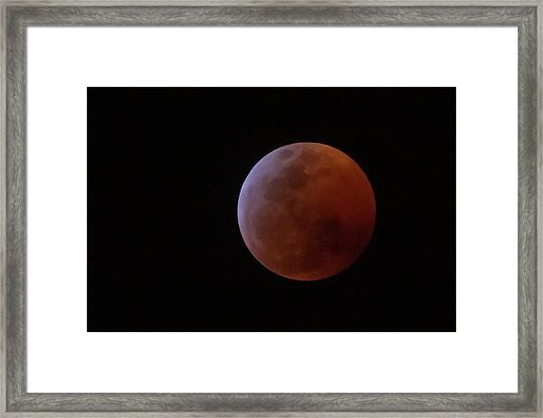 Bahamian Super Blood Wolf Moon Framed Print
