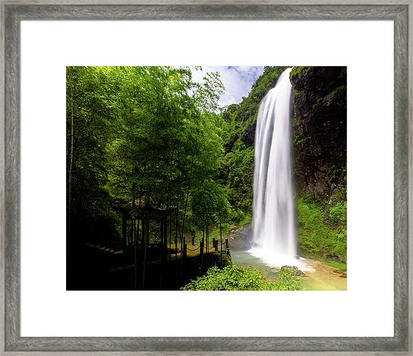 Framed Print featuring the photograph Baiyun Waterfall II by William Dickman