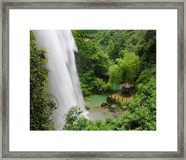 Framed Print featuring the photograph Baiyun Waterfall by William Dickman