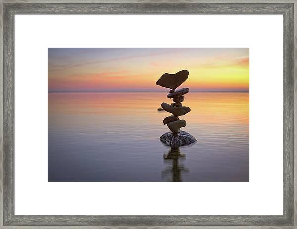 Balancing Art #1 Framed Print