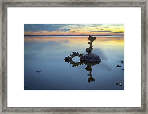 Balancing Art #10 Framed Print