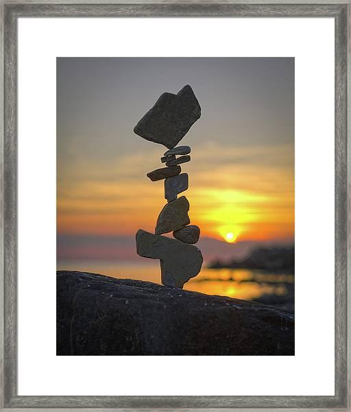 Balancing Art #12 Framed Print