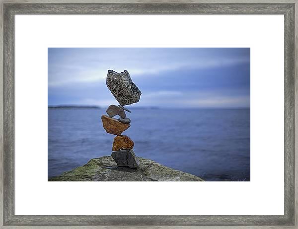 Balancing Art #13 Framed Print