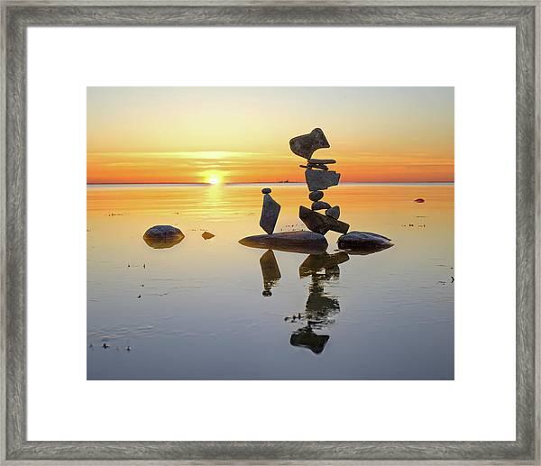 Balancing Art #14 Framed Print