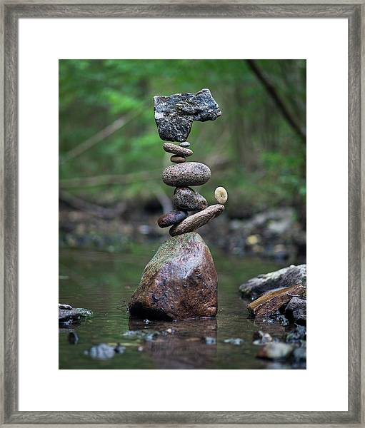 Balancing Art #18 Framed Print