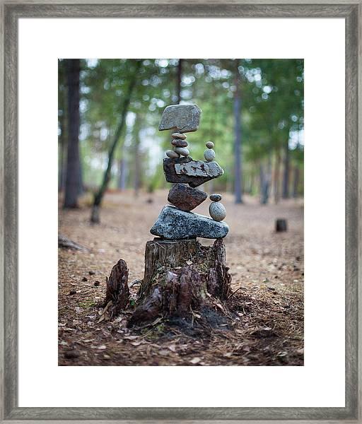 Balancing Art #19 Framed Print