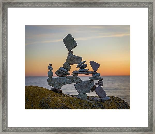 Balancing Art #2 Framed Print