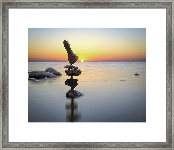 Balancing Art #3 Framed Print