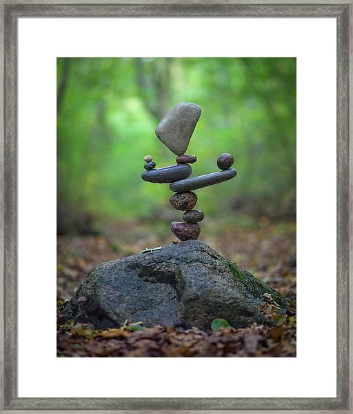 Balancing Art #34 Framed Print