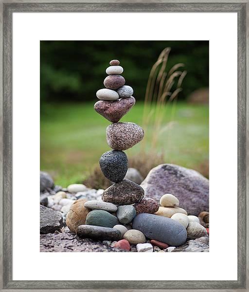 Balancing Art #39 Framed Print