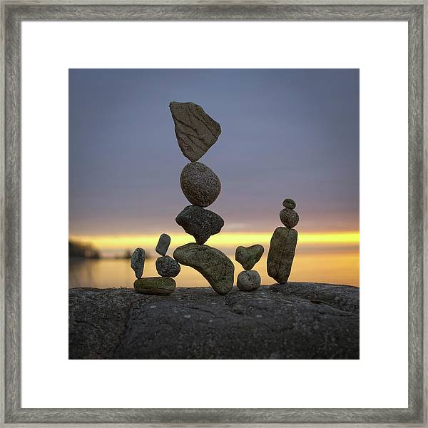Balancing Art #5 Framed Print