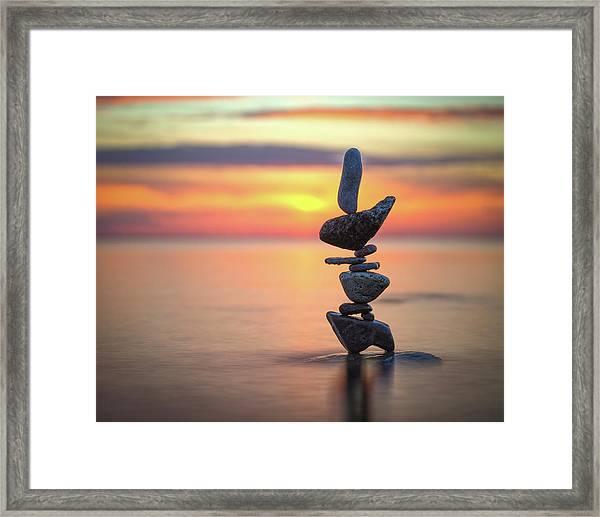 Balancing Art #6 Framed Print