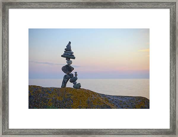 Balancing Art #64 Framed Print