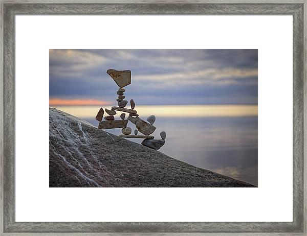 Balancing Art #7 Framed Print
