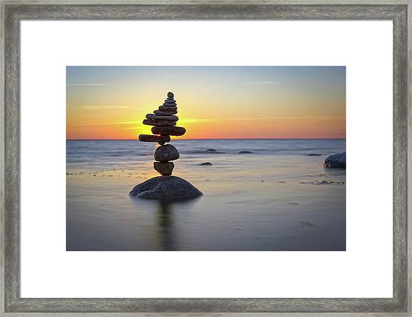 Balancing Art #8 Framed Print