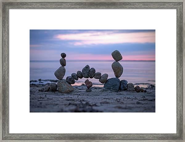 Balancing Art #9 Framed Print