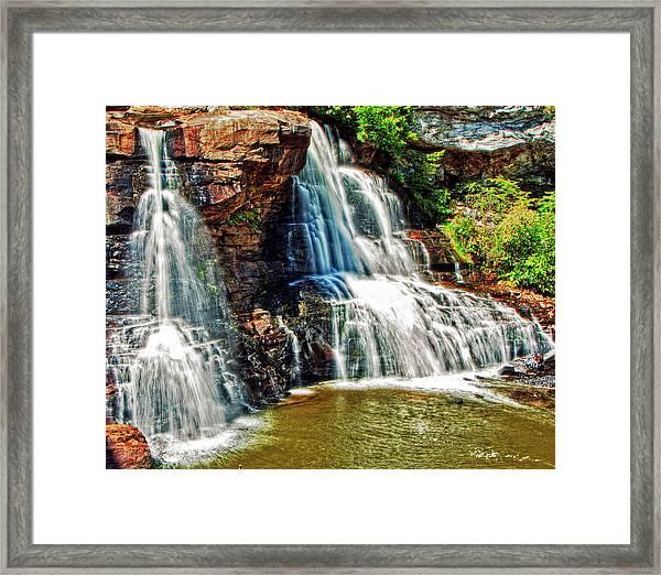 Balckwater Falls - Closeup Framed Print
