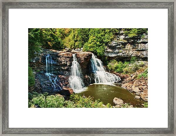 Balckwater Falls - Wide View Framed Print