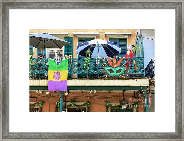 Balcony Party New Orleans Framed Print by John Rizzuto
