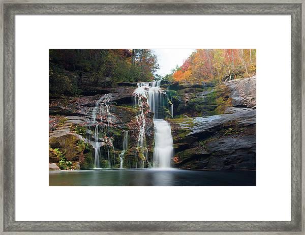 Bald River Falls Basin Framed Print