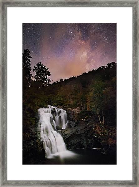 Bald River Falls Milky Way Framed Print