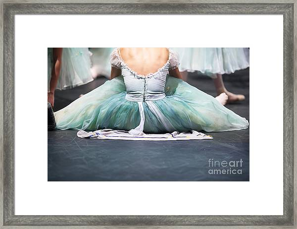 Ballerinas In The Movement. Behind The Framed Print