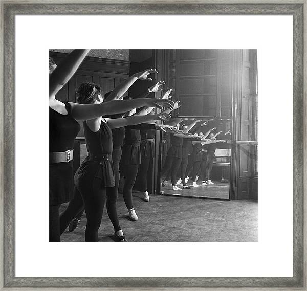 Ballet Class Framed Print by Chris Ware