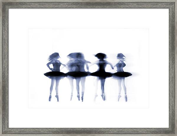 Ballet Dancer Pirouetting On White Framed Print by Phil Payne Photography