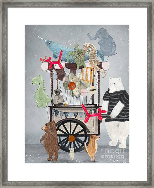 Balloon Fair Framed Print