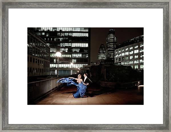 Ballroom Dancing At Night Framed Print