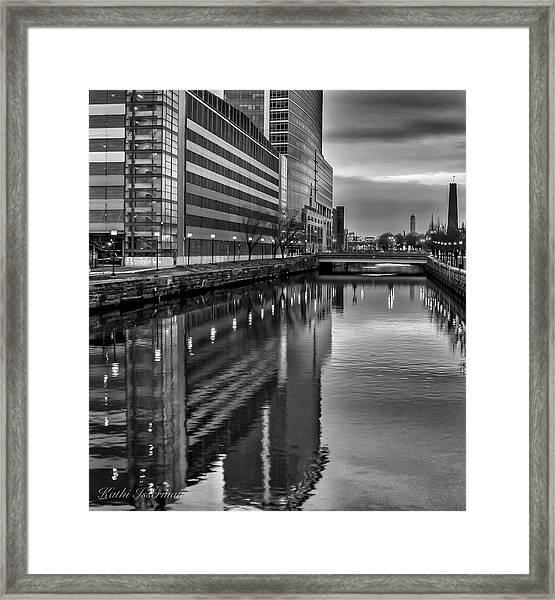 Baltimore At Twilight Framed Print