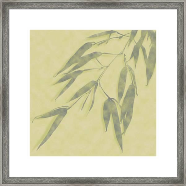 Bamboo Leaves 0580b Framed Print