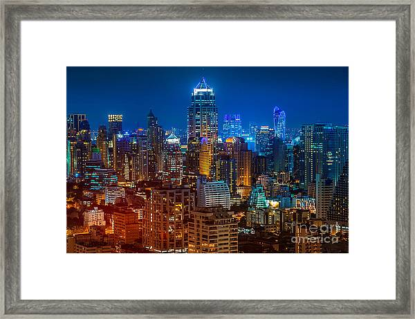 Bangkok Night Framed Print