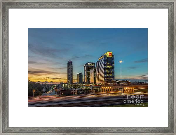Banking Giants Too Atlanta Midtown Sunset Atlanta Georgia Art Framed Print