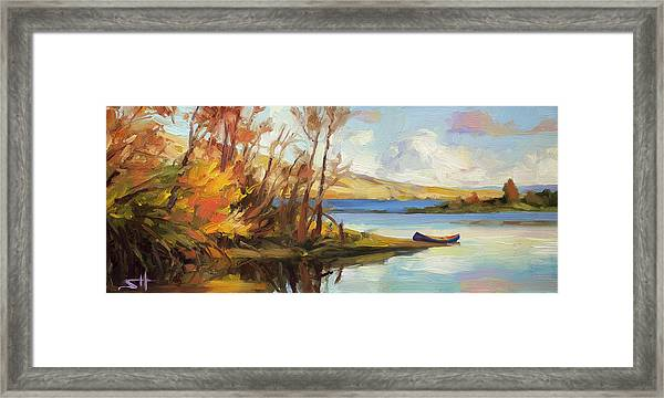 Banking On The Columbia Framed Print
