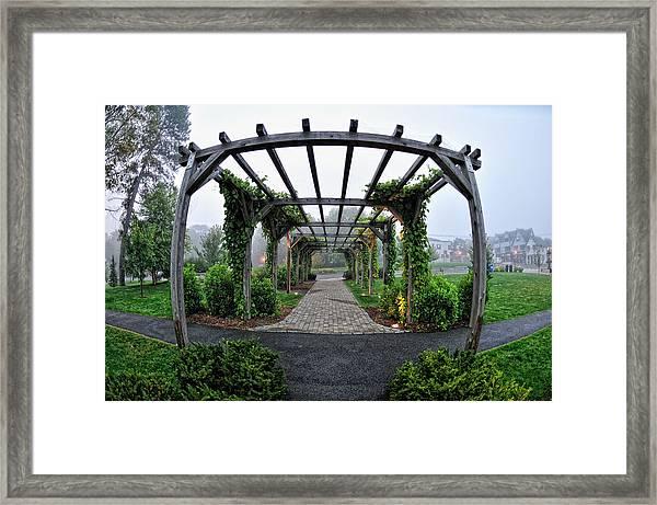 Bar Harbor Pergola Framed Print