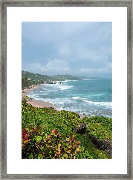 Barbados Atlantic Coast Framed Print