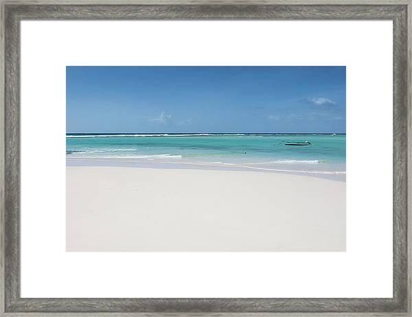 Barbados Beach Framed Print