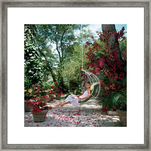 Barbados Bliss Framed Print by Slim Aarons